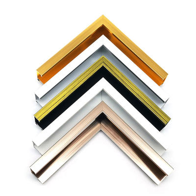 Aluminum picture frames moulding custom size and design for home decoration