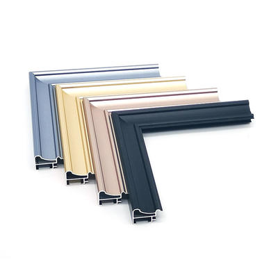 Aluminum picture framing material moulding custom size and design for home decoration
