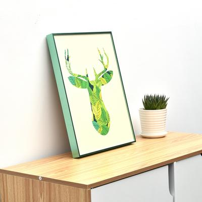 aluminium picture frame metal photo frame custom size for home decoration wall decoration foshan factory
